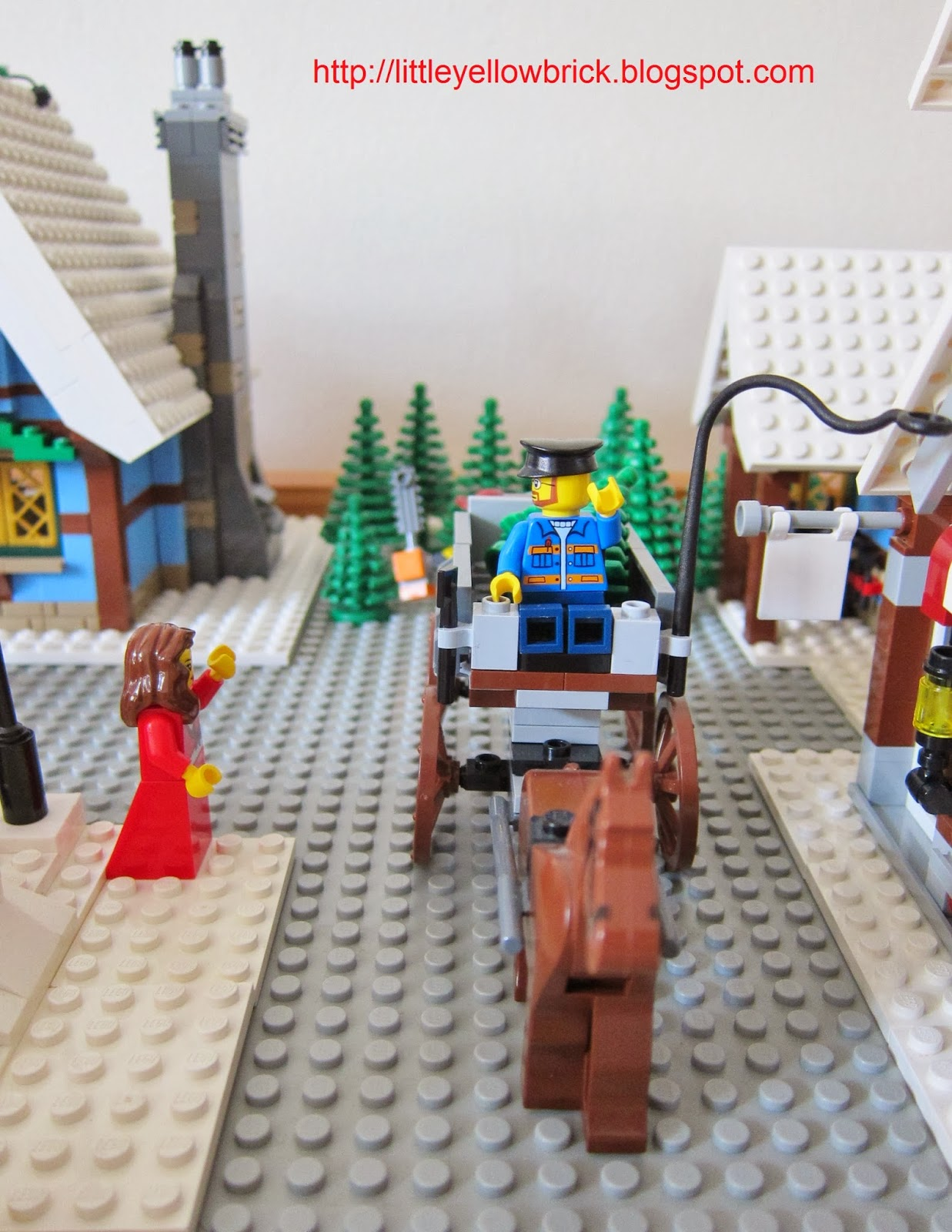 Little Yellow Brick - A Lego Blog: Our Lego Winter Village Town MOC