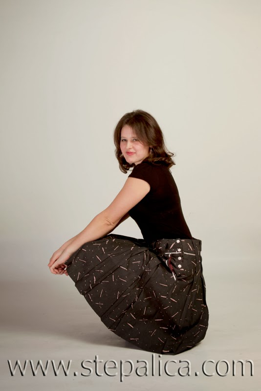 Stepalica: Zlata skirt pattern - view A