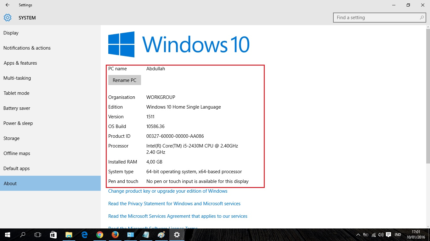 3 Cara Mengecek Spesifikasi Laptop di Windows 10