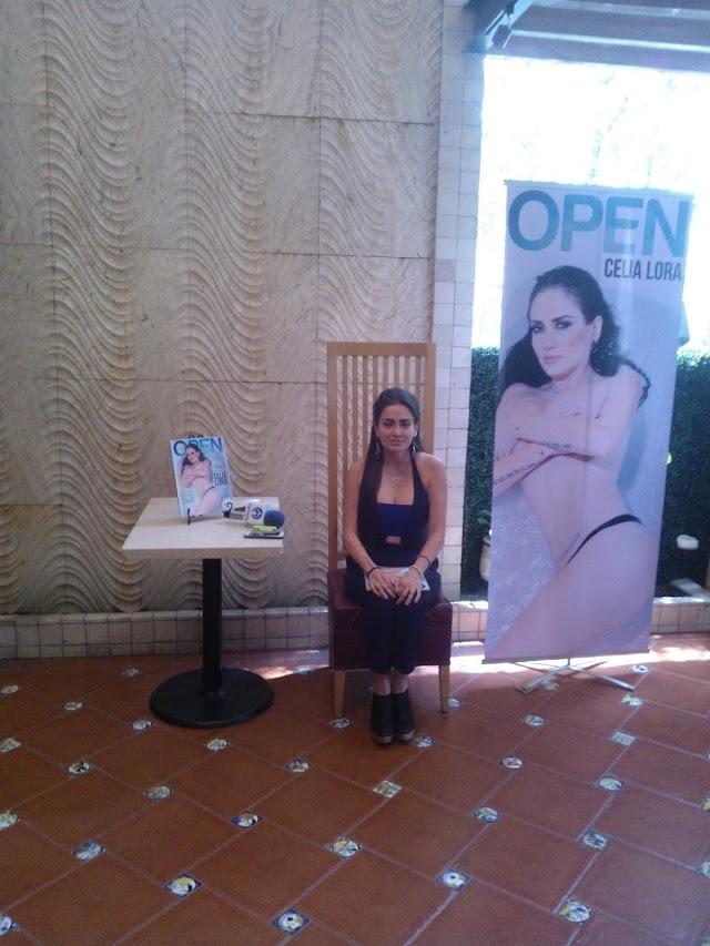 Celia Lora en la portada de OPEN Marzo