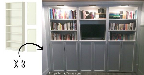 How To Make A Diy Simple Built In Bookcase A Billy