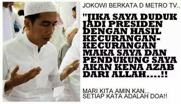 Doa Jokowi