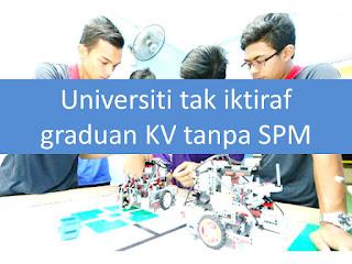 Image result for diploma kv tidak diiktiraf