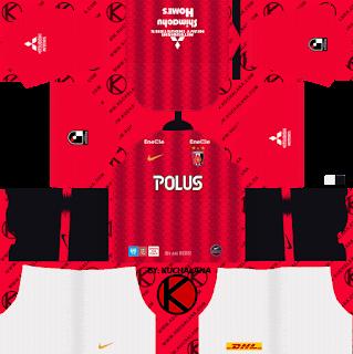 Urawa Red Diamonds 浦和レッドダイヤモンズ kits 2019 - Dream League Soccer Kits