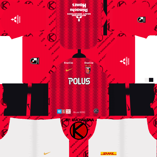 Urawa Red Diamonds 浦和レッドダイヤモンズ kits 2019 - Dream League Soccer Kits