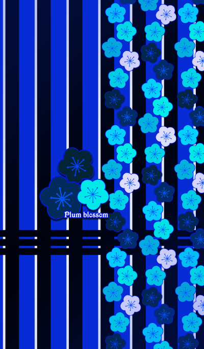 Plum blossoms -Blue-