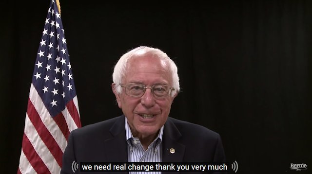 Bernie Sanders 2016 get out and vote in California goofy grin face
