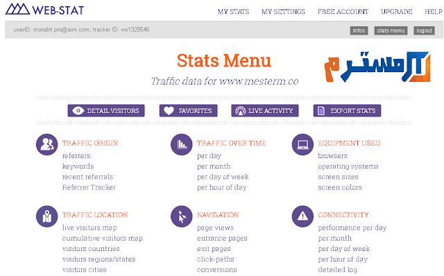 صورة حية داخل موقع web-stat