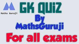 GK Test Series-3  For Railway & other Exams