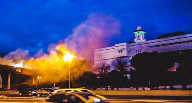 عاااجل وخطيــــــــــــر... هجوم على المسجد الكبير بمدريد الاسبانية انتقاما لهجمات بروكسيل!!!