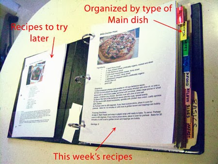 How to Menu Plan recipe binder