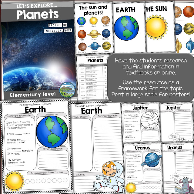 Learning by exploring topics with research based units. Asking questions is key for developing critical thinking. Great unit on the solar system and the planets!