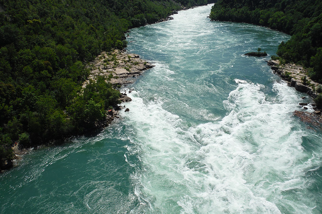 View from the Niagara Whirlpool Aero Car