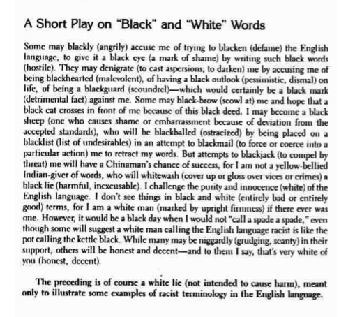 racism english language robert b moore Chicago moore, r b (robert b) racism in the english language : a lesson plan and study essay ny :the racism and sexism resource center for educators, 1976.