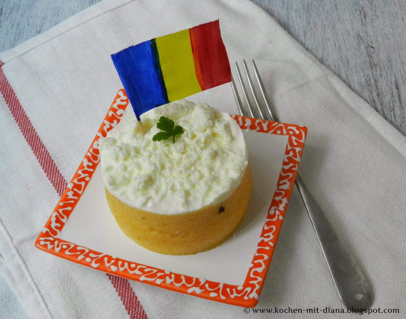Polenta mit Käse und Sauerrahm