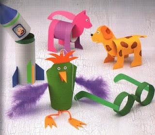 Como hacer animales con tubos de cartón