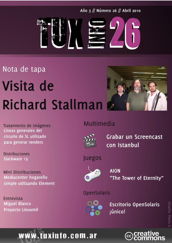 TuxInfo Nro. 26 – Visita de Richard Stallman