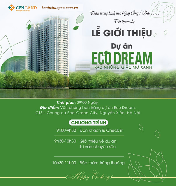 Thư mời mở bán Eco Dream