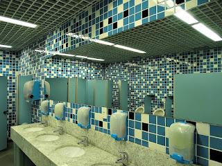 Vestiário da Arena do Grêmio - Banheiro