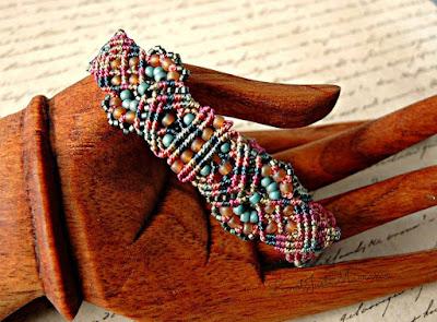 Micro macrame bracelet from Knot Just Macrame.