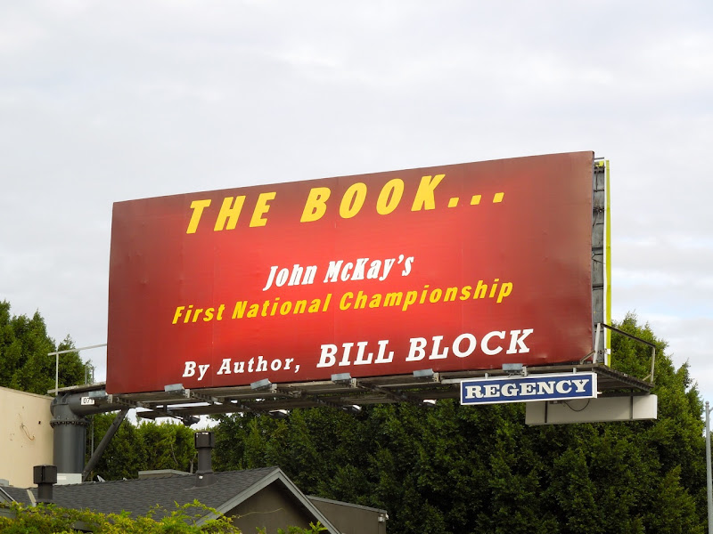 John McKays First National Championship book billboard
