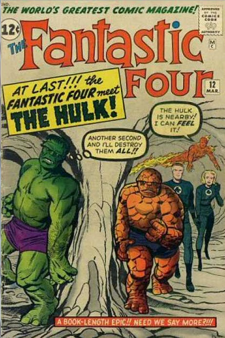 Fantastic Four 12-Lee Kirby Ayers Hulk