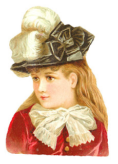 fashion girl vintage hat victorian