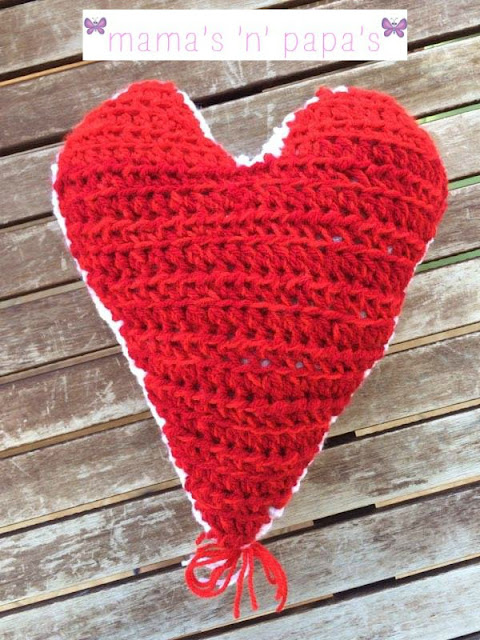 crochet a heart pillow lifesize