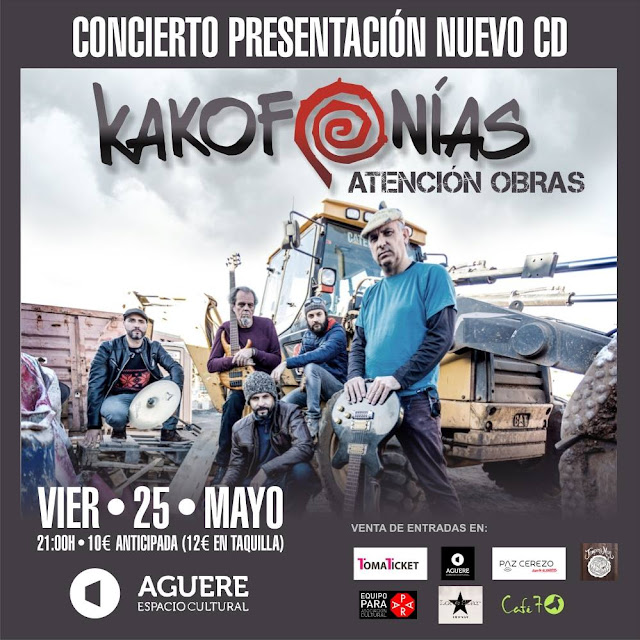 Puntos de venta de concierto de Kakofonías