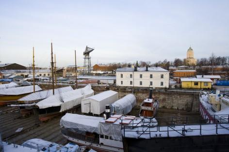 Dique seco en la Fortaleza de Suomenlinna (Helsinki) (@mibaulviajero)