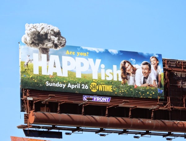 Happyish series premiere special extension billboard