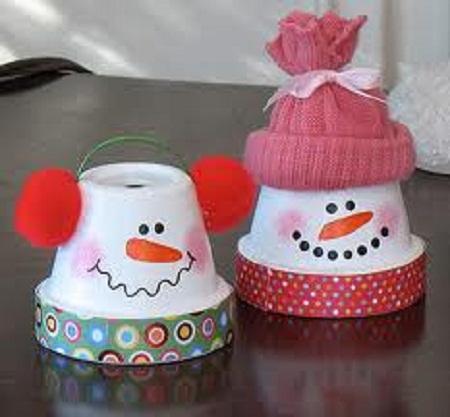 Muñeco De Nieve Hecho Con Vasos De Plastico Manualidades Faciles