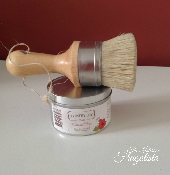 Applying a clear wax finish over chalk paint