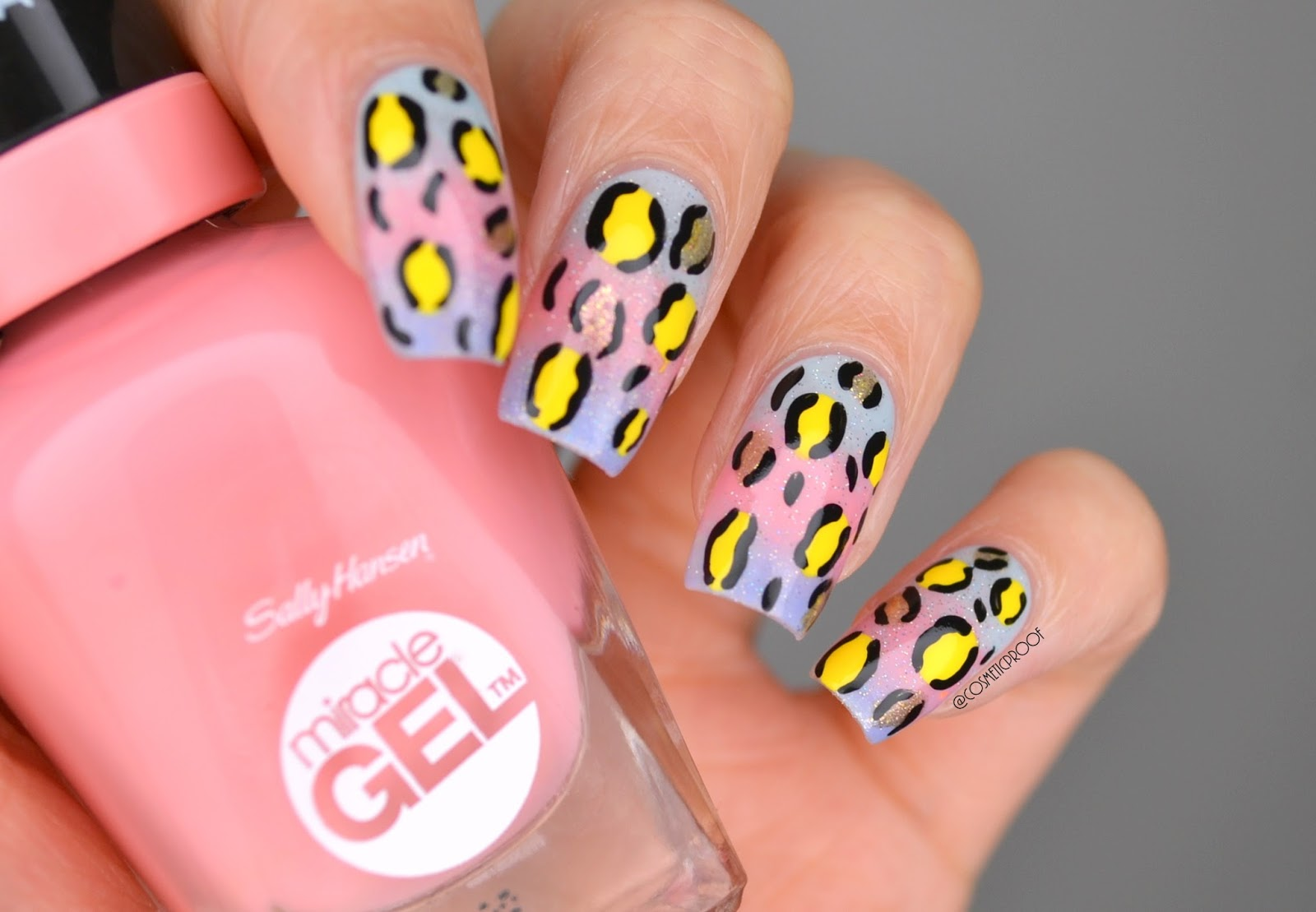 Nails Pastel Punk Leopard Print Cbbxmanimonday Cosmetic Proof