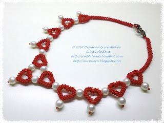 "Ожерелье ""Жемчуг среди сердец"""