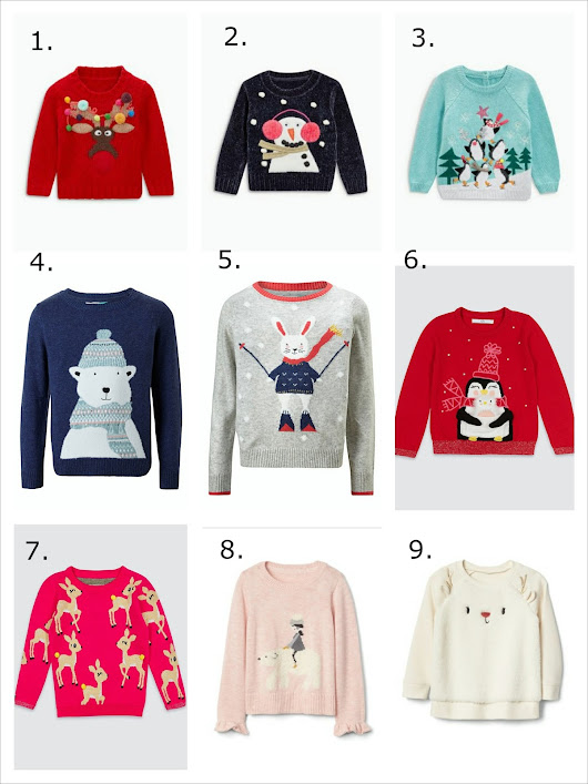 My favourite 2017 Christmas jumpers for 1-5 year olds: Girls and boys