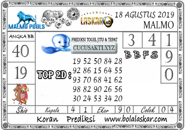 Prediksi Togel Jitu MALMO LASKAR4D 18 AGUSTUS 2019