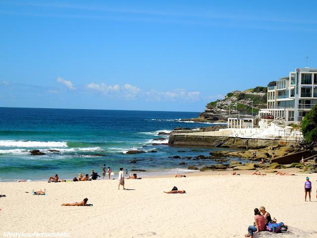 view of the pool on bondi beach Australia