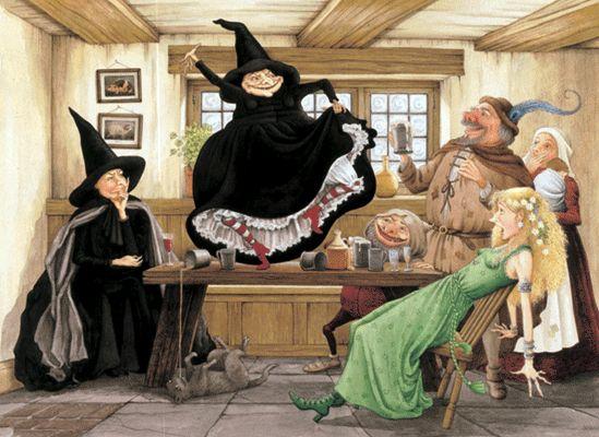 Image représentant les sorcières imaginées par Terry Pratchett dans la série de romans du Disque-monde.