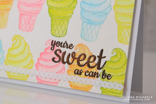You're Sweet As Can Be Card by Juliana Michaels featuring Sweet Shoppe Stamp Set by Sunny Studio Stamps and Zig Clean Color Real Brush Markers