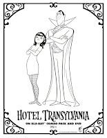 דפי צביעה מפלצת של מלון- דרקולה ומייוויס
