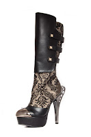 Frances Victorian Steampunk Boots