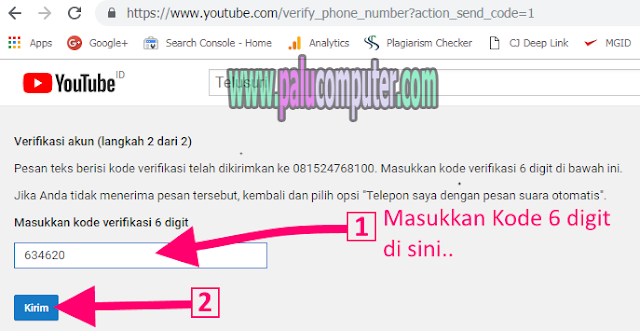 verifikasi channel youtube
