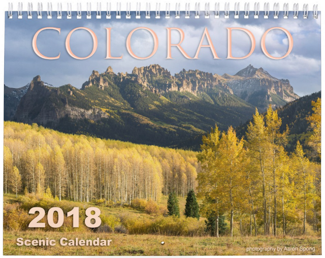 Colorado Rocky Mountain Calendar 2018 with photography by Aaron Spong