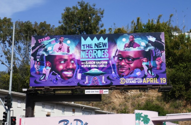 New Negroes standup billboard