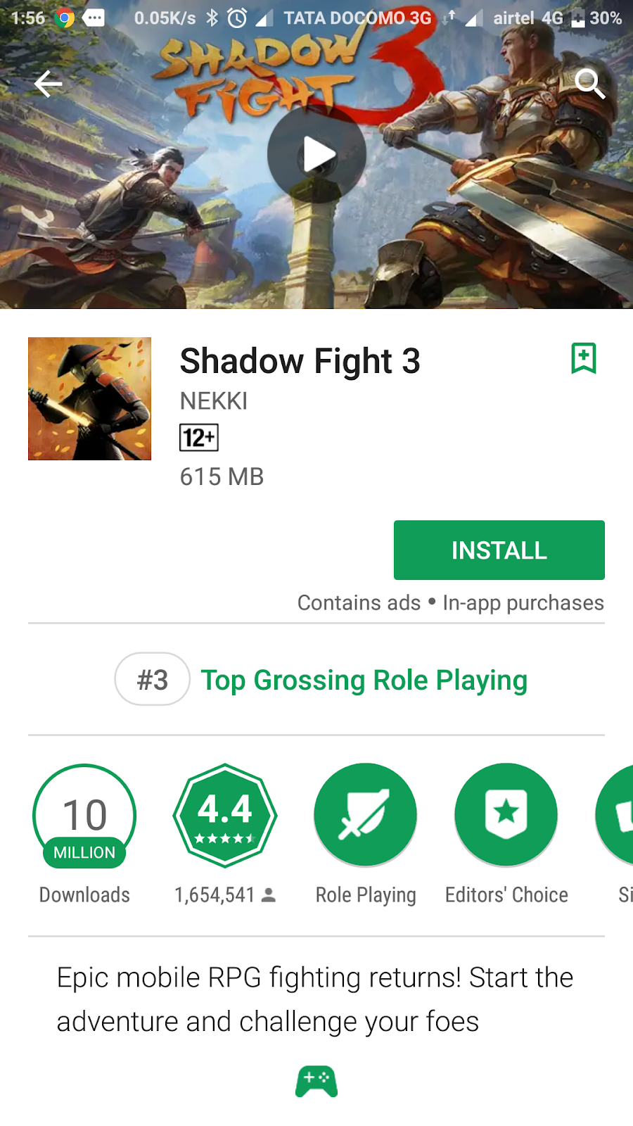 150MB] Shadow fight-3 with MOD APK + highly compressed data