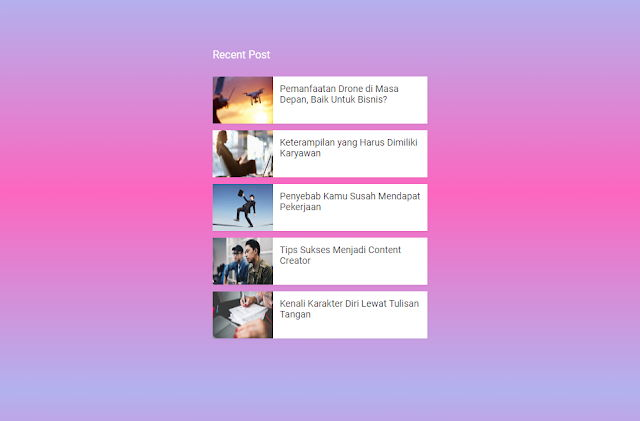Recent Post Slider With Thumbnail Widget For Blogger