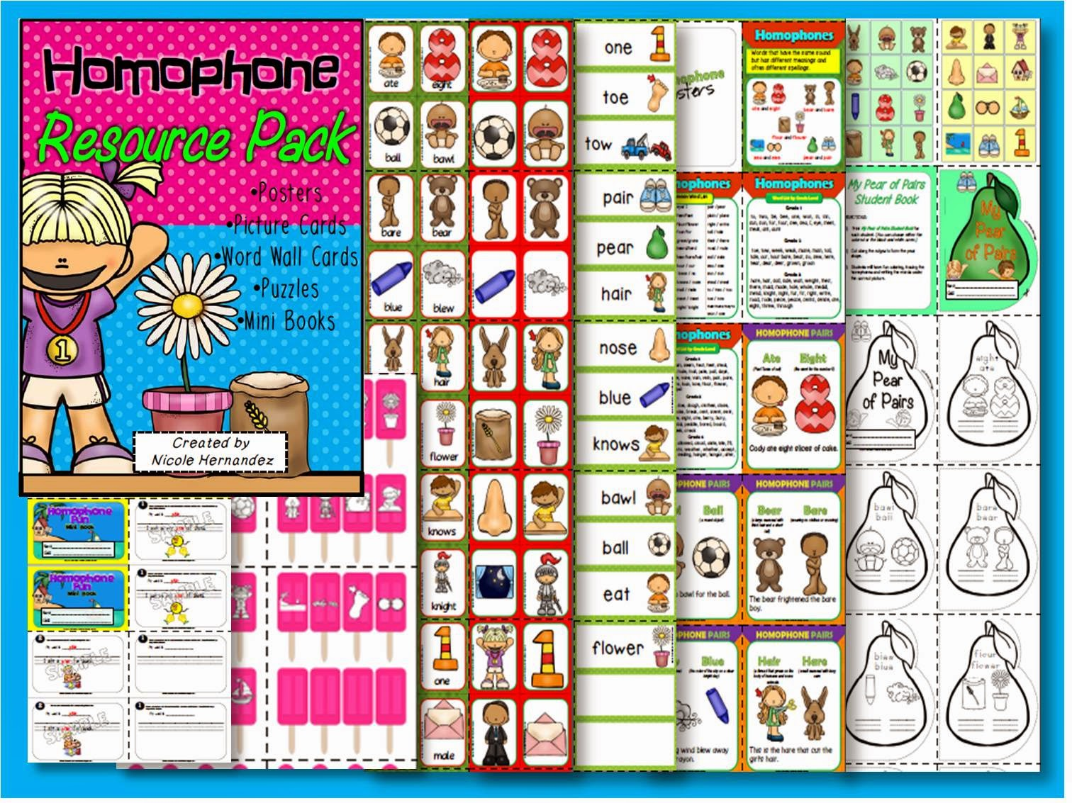 A Teacher S Idea My Homophone Resource Pack