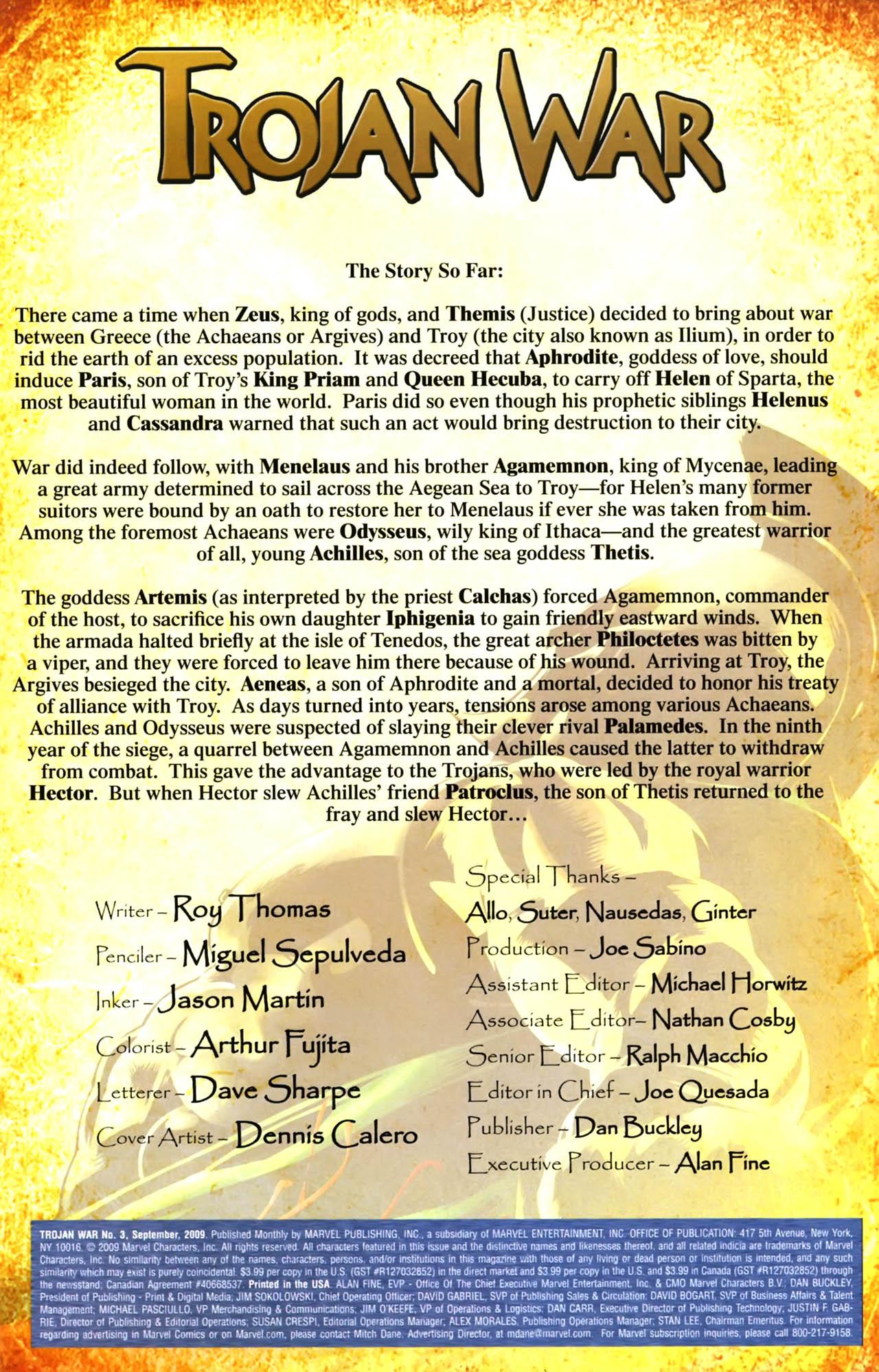 Read online Trojan War comic -  Issue #3 - 2