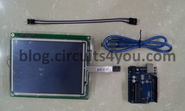 4 wire touch screen interfacing components required